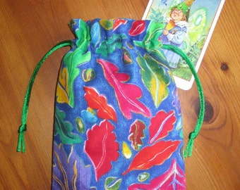 SALE Colorful Falling Leaves Padded Tarot Bag