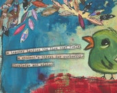 Teacher gift, teacher art, art for teacher, gift for teacher, Inspirational Art by Jennifer McCully