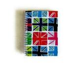 Fancy Union Jack - Spiral Notebook - 4 x 6 in