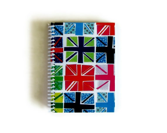 Fancy Union Jack - Spiral Notebook - 4 x 6 in