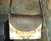 Cream Mini Chief Joseph Cross Body Handbag