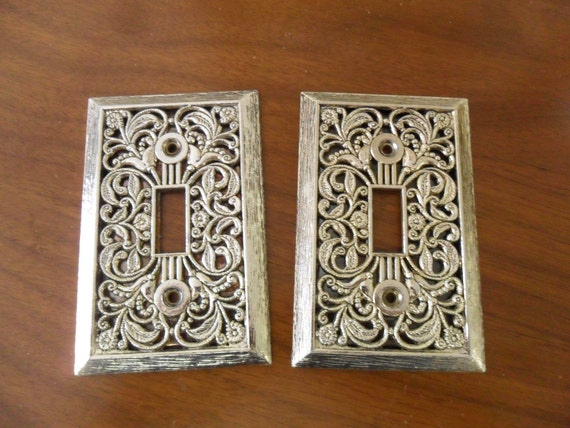 Mid Century Retro Light Switch Cover Plates- Shabby Chic - New Old Stock