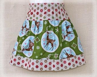 12-18mo, 18/24mo & 2T - HOLIDAY Deer - Girls Twirl Skirt