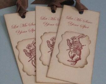 Alice in Wonderland Rabbit Bookmarks Set of 3