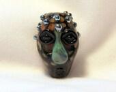 African Tiki Mask Lampwork Bead