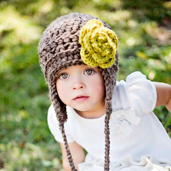 Items similar to Toddler Girl Winter Hat Little Girl Hat ...