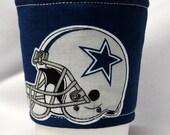 Coffee Cozy/Cup Sleeve Eco Friendly Slip-on, Teacher Appreciation, Co-Worker Gift NFL - Dallas Cowboy Helmet