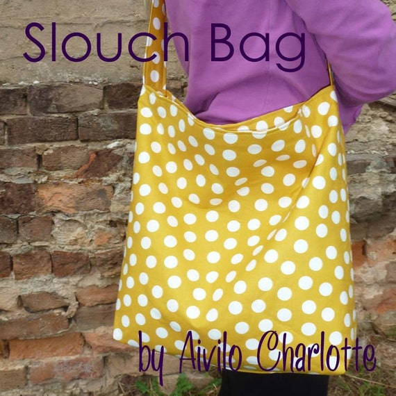 PDF Purse Sewing Pattern - Slouch Bag - easy project for beginners by ...