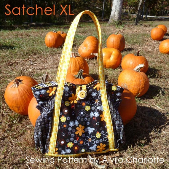 Satchel XL tote bag - easy pdf Purse Sewing Pattern - Instant Download -  great diaper bag, travel bag or carry all