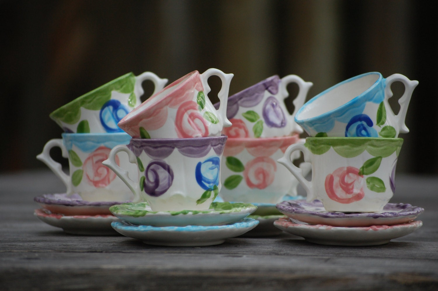 Tea party favors personalized tea cups by hollyslay on etsy for Teacup party favors