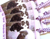 Only 1 Left - Fiber Care Gift Tags - Knit Crochet Woven Fiber Gifts - Border Collie Dog & Suffolk Sheep - Set of 8