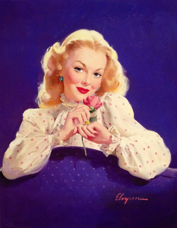 VALENTINE Elvgren Romantic MARILYN MONROE Pin-up Best gift