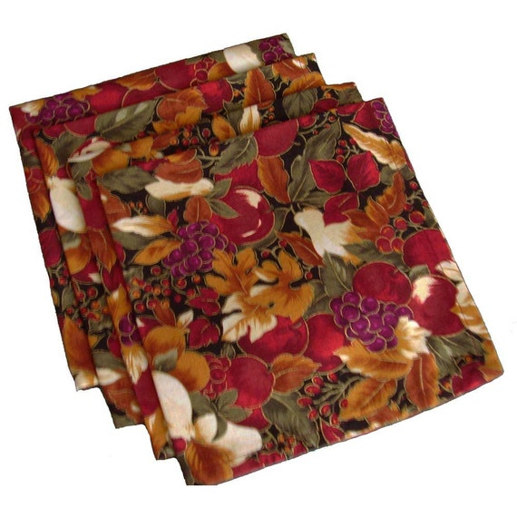 Fall napkins cloth dinner napkins thanksgiving napkins for Turkey napkins
