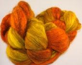 Butternut squash Mixed BFL 4 ounces spinning fiber