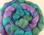 Sweet Tarts -- soft purples and greens in a tasty little Mixed BFL-Tussah Silk package-- 4 ounces