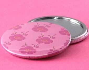 Pocket Mirror Flowers - Pink