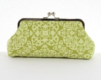 Green Clutch Purse, Spring Green Wedding Clutch, Summer Wedding Gift for Bridesmaids - SALE
