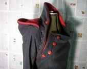 ON RESERVE nursing hoodie, maternity wear - winter fleece with nursing access, custom made maternity fashion.