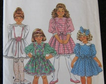 Uncut vintage Dress child girl 5 6 6x sewing pattern Simplicity 1992 holiday formal princess