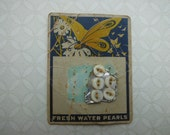 Beautiful Vintage Button Card with 5 Buttons