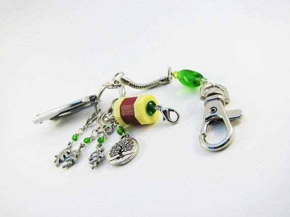 Decorative Knitting Stitch Markers : Knitters Chatelaine: Tree of Life Stitch Markers Row