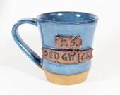Custom coffee mug, Personalized with your name, personal name plate, handmade, Personalized mug
