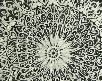 Reproduction ACEO Black and White Lace