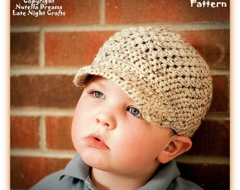 Instant Etsy Download Pattern - Original Crazy Easy Textured Newsboy Cap Crochet Pattern - Best Seller - Child and Adult Sizes