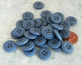 3 Dozen New Medium Blue Plastic Buttons-NBU1