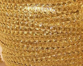 Gold Metallic Gimp Trim - Trim Me Up 5 Yards DESTASH