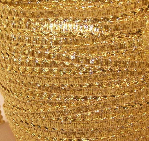 Gold Metallic Gimp Trim - Trim Me Up 5 Yards DESTASH