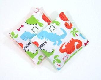 DINOSAURS - Kids Bean Bag Set of 2 - Party Favor - Stocking Stuffer