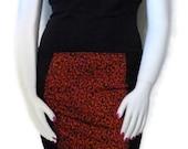 Rust Leopard Panel Dress Bombshell Pinup