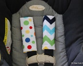 Cute Rainbow Chevron and Retro Lolli Dot Car Seat Strap Covers