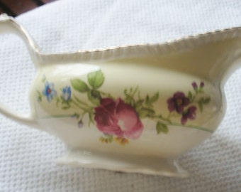 Home Living   - Vintage - Gravy Boat - Bowl - Pitcher -  Wild Flower Vase - Cabin Decor - Washcloths/Soap - Ivory Ware - Rose Pink Roses