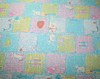 """Lilly Pulitzer fabric """"WRITTEN in the STARS"""" , 100% cotton, 18""""x18"""""""