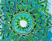 Original Mandala Art: Holiday Spirit for Reflection and Contemplation