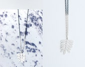 Plant Motif Necklace. Modern nature in oxidised Sterling Silver