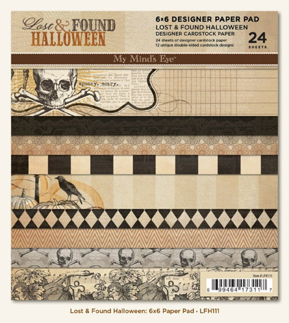 MME 2012 papers pack - lost and found - halloween collection - set of 24 - double side cardstock - 6x6