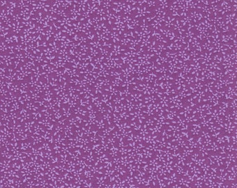 Purple With Tiny Flowers All Over Fabric 100% Cotton