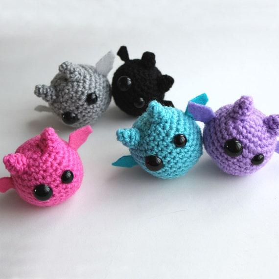 Make Amigurumi Bat Crochet : PATTERN Amigurumi Bats pdf Crochet Pattern by cutedesigns ...