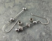 """1.5"""" Ready to Assemble Earring Set - DIY Stainless Steel Bead Bars,earring bead bars,jewelry supplies,interchangeable bead rods"""