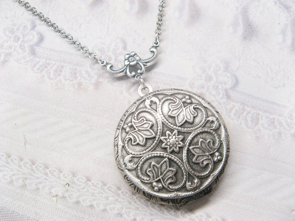 Silver locket necklace oval silver locket necklace eternity jewelry silver locket necklace oval silver locket necklace image gallery aloadofball Image collections