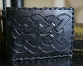 Men's Leather Wallet-Celtic Knot Work Leather Wallet-Men's Leather Wallet -Men's Celtic Wallet-Leather Wallet-Leather Wallets Celtic Wallets