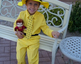 Man in the Yellow Hat Children's Costume, Child Sizes 2,3,4,5