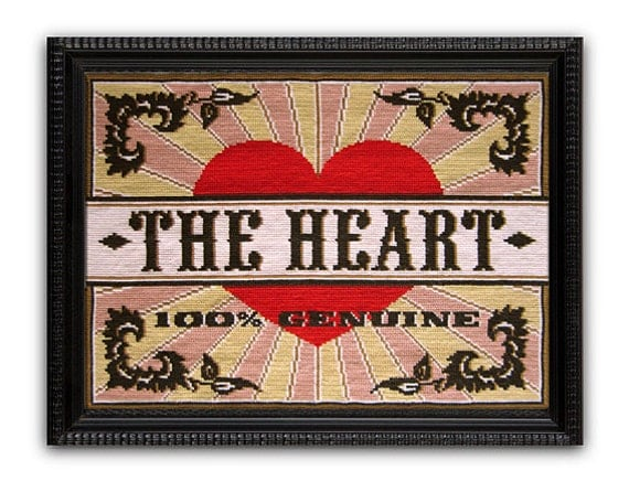 SALE The Heart Cross Stitch kit - Small