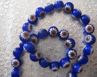 Millefiori Glass Beads ( 19 )  Round 10mm