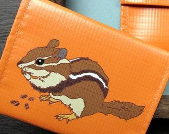 Chipmunk  Vinyl Pouch / Coin Purse / Wallet -- Eco Friendly