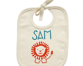Personalised Organic Cotton Baby Bib