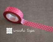 Washi Tape Pink Polka Dot - 10.5 yard roll Japanese Deco Tape swiss dot